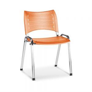 Cadeira Fixa Cromada Em Polipropileno CADFIXCRISOFR01