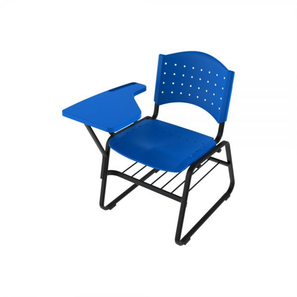 Cadeira Secretaria Universitaria Polipropileno Base Trapezio CADUNPOLRE01
