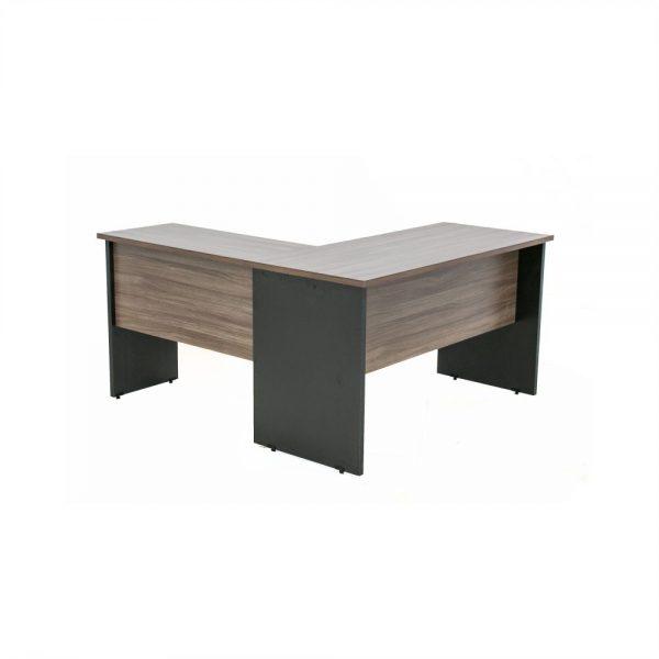 Mesa escrivaninha com auxiliar formando L tampo 25mm cor nogal