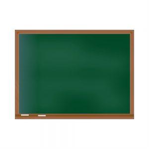 Quadro Escolar Verde com Moldura de Madeira QESM