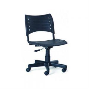 Cadeira Polipropileno Giratoria Preta AFF020