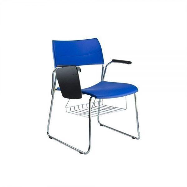 Cadeira Universitaria Polipropileno Nina Fixa Cromada AFF1010