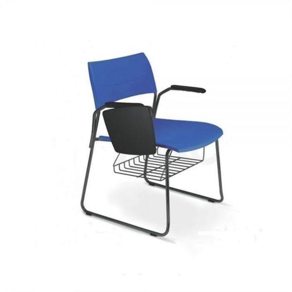 Cadeira Universitaria Polipropileno Nina Fixa Preta AFF1020